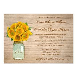Country Rustic Mason Jar Sunflowers Wedding 5