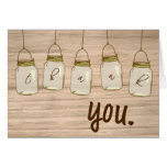Country Rustic Mason Jar Thank You Note Stationery Note Card