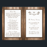 """Country Rustic Monogram Branch &amp; Wood Wedding Flyer<br><div class=""""desc"""">These bi-fold programs are perfect for any couple planning a rustic country marriage. The design features a monogram branch design on a rustic wood effect background. The simple design can be personalized to suit your special event and will be the perfect order of service for any country chic themed party,...</div>"""