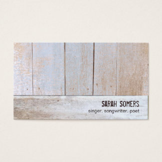 Country Rustic Natural Reclaimed Wood Business Card
