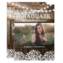 Country Rustic Photo 2018 Graduation Party Card