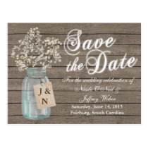 Country Rustic Save the Date Wedding Card