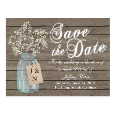 Country Rustic Save The Date Wedding Card at Zazzle