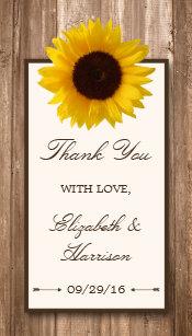 c07840981b4 Sunflower Wedding Favor Tags | Zazzle
