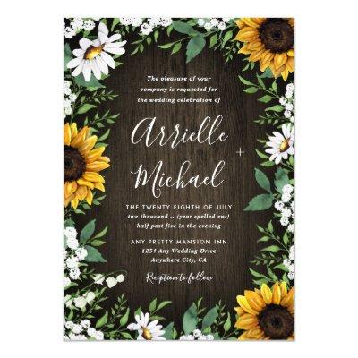 Daisy Wedding Invitation Zazzle Com