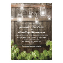 Country Rustic Wedding | Barrel Vine Invitations
