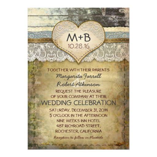 Free Wedding Invitation Samples Zazzle Country Rustic Wedding Invitations 5quot X 7quot Invitation Card