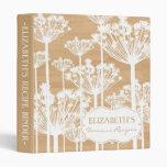 Country Rustic White Dandelions Custom Binder