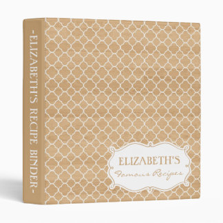 Country Rustic White Moroccan Pattern Binder
