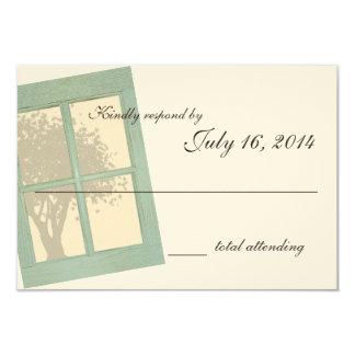 Country Rustic Window Pane Wedding Card