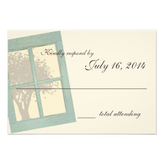 Country Rustic Window Pane Wedding Invite