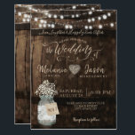 "Country Rustic Wood Barrel Wedding Invitations<br><div class=""desc"">Country Rustic Wood Barrel Wedding Invitations</div>"