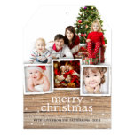 Country Rustic Wood Merry Christmas Photo Card Personalized Invitation