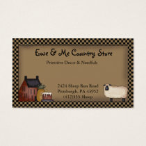 Country Saltbox & Sheep Business Card Template