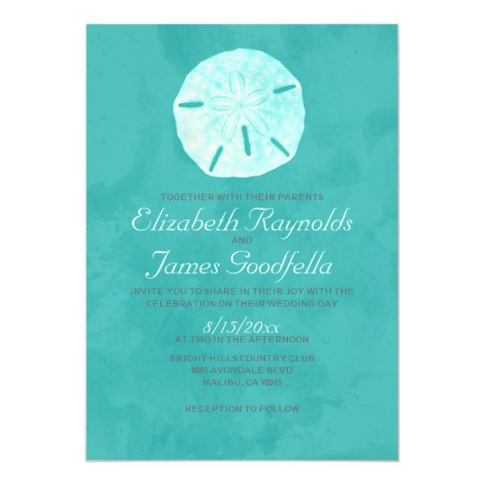 Country Sand Dollar Wedding Invitations