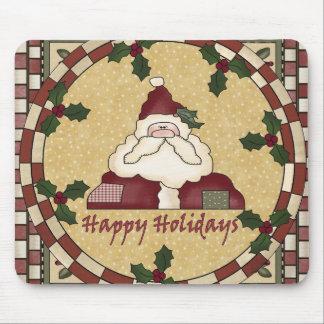 Country Santa Claus Christmas Mousepad
