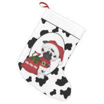 Country Santa cow Holiday Christmas stocking
