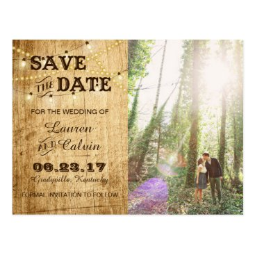 langdesignshop Country Save the Date Card for your Rustic Wedding