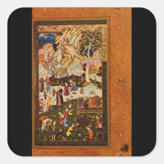 Country Scene', Abd al-Samad_The Orient Square Sticker