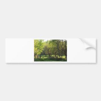 Country Scene Bumper Sticker