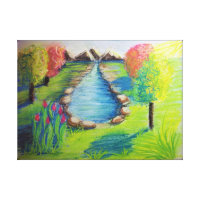 Country Scene Impression Canvas Print