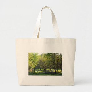 Country Scene Large Tote Bag