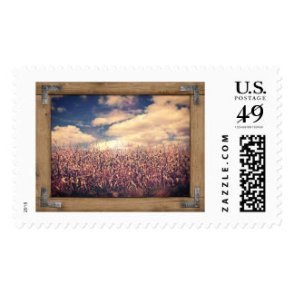 Country Scene Postage Stamp