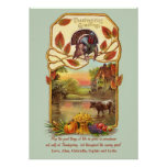 Country Scene Thanksgiving Card