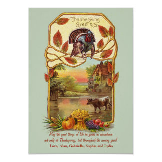 Country Scene Thanksgiving Card Announcements