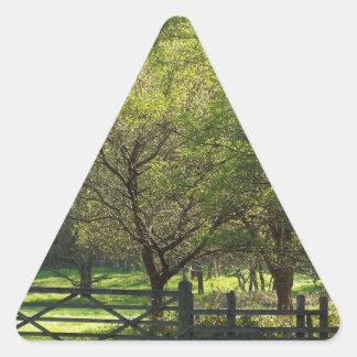 Country Scene Triangle Sticker