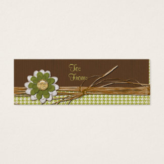 Country Scrapbook Flower Mini Business Card