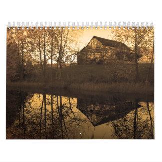 Country Sepia Calendar