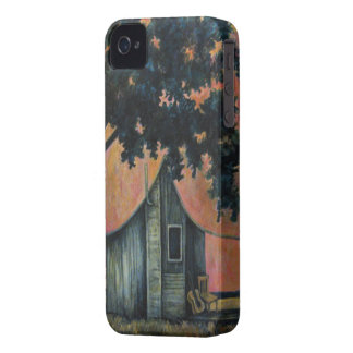 Country Shack Blues Guitar Under a Shade Tree Art iPhone 4 Covers