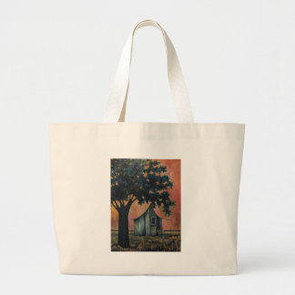 Country Shack Blues Guitar Under a Shade Tree Art Large Tote Bag