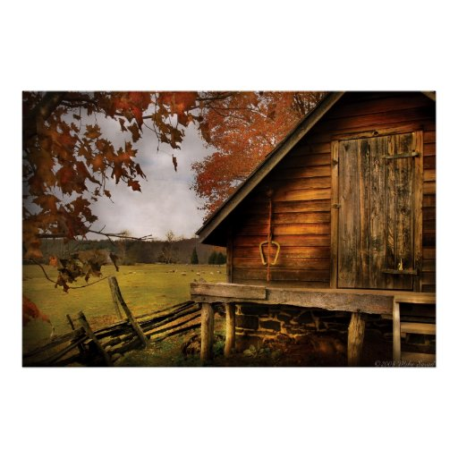 Country - Shed out back Print