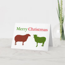 Country Sheep Christmas Card