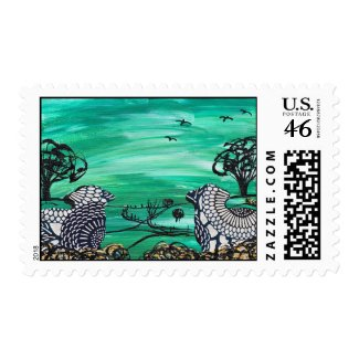 Country Sheep Postage stamp