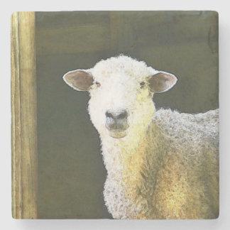 Country Sheep Stone Coaster