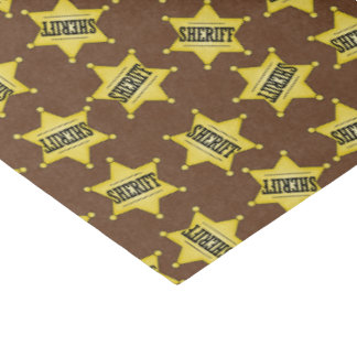 Country Sheriffs badge pattern tissue paper