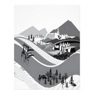 Country-side living design custom letterhead