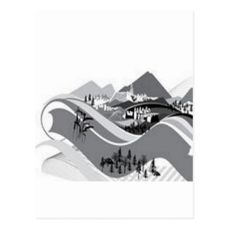 Country-side living design postcard