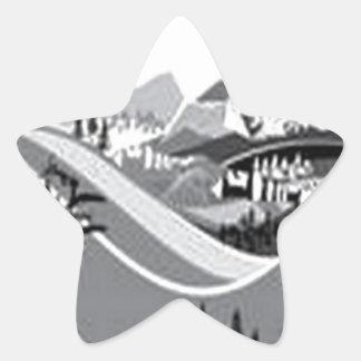 Country-side living design sticker