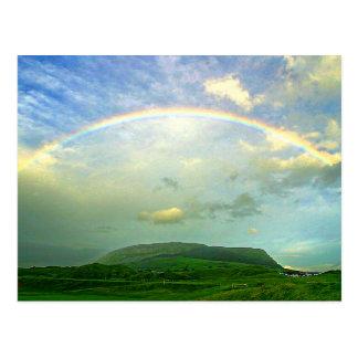 Country Side Rainbow Postcard