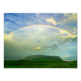 Country Side Rainbow Poster
