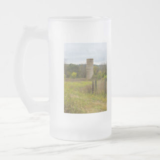Country Silo Frosted Glass Beer Mug