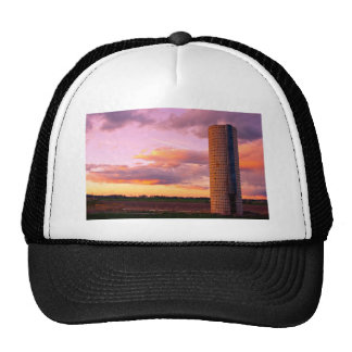 Country Silo Sunset Trucker Hat