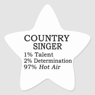 Country Singer Hot Air Star Stickers
