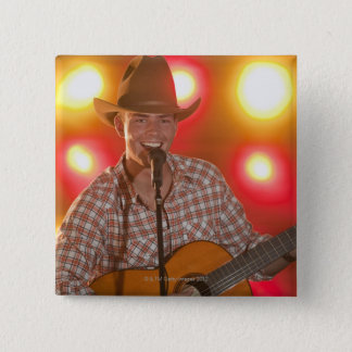 Country singer pinback button