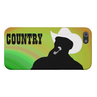 Country singer's silhouette, green yellow back cover for iPhone SE/5/5s