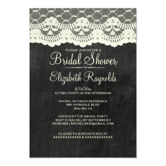 Country Slate Bridal Shower Invitations